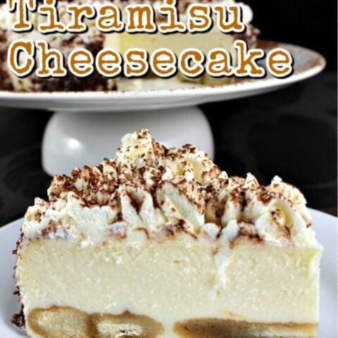 Creamy Tiramisu Cheesecake. This is a lovely baked dessert with the flavors of the classic Italian Tiramisu. If you like Tiramisu then you will enjoy this!