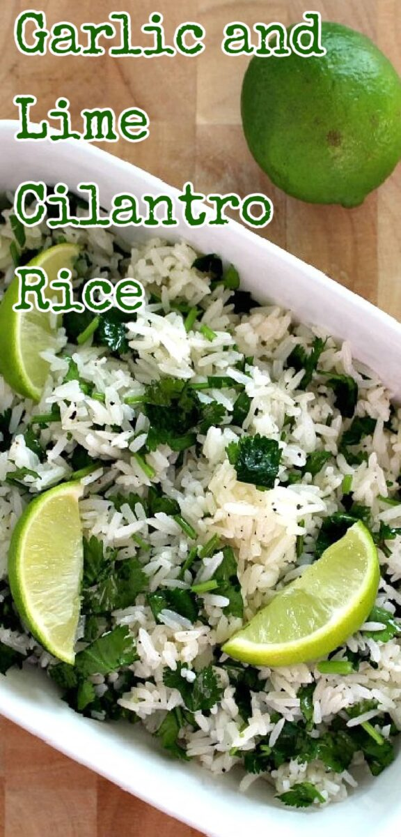 Garlic and Lime Cilantro Rice. A wonderful refreshing side dish using simple fresh ingredients and always popular! |
