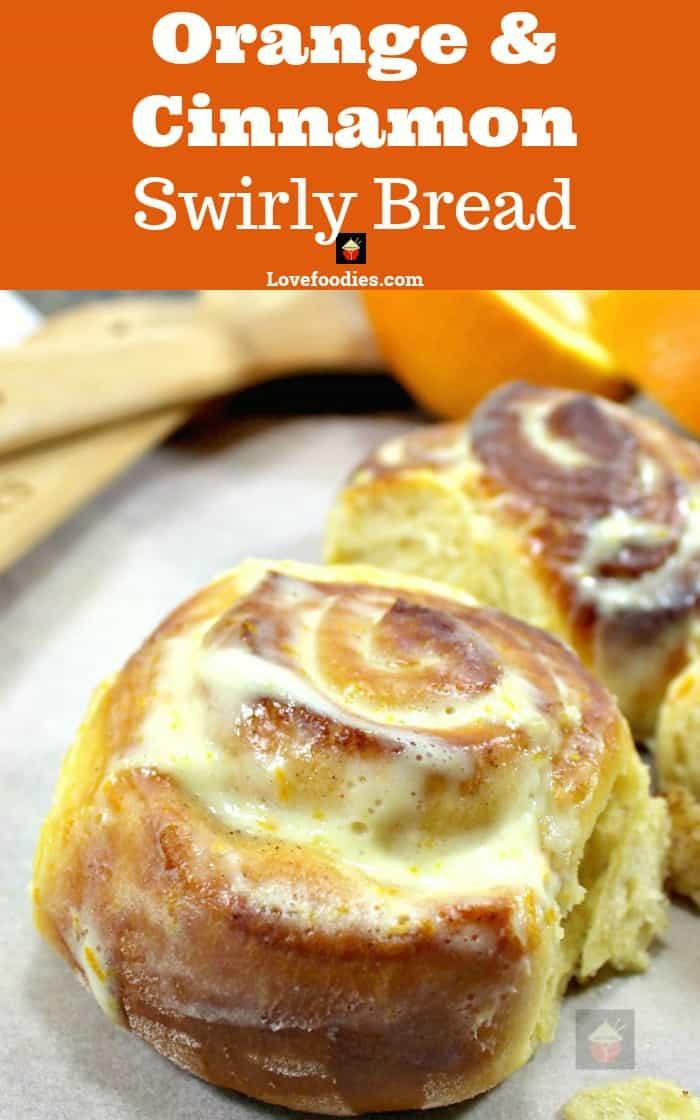 Orange and Cinnamon Swirly Bread .... oh my! Seriously soft, sticky, yummy! Happy baking!