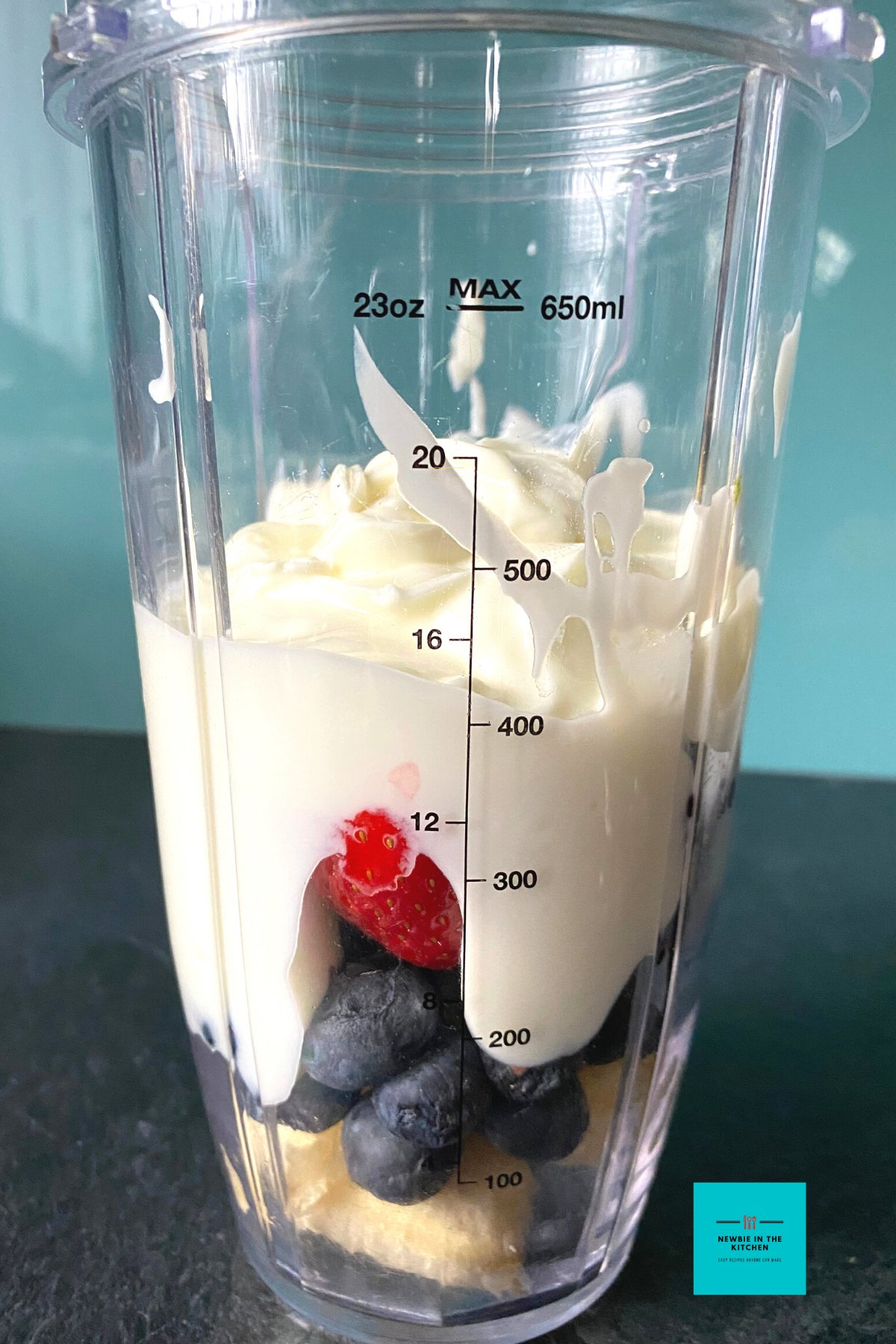 Creamy Honey and banana smoothie, using different fruits