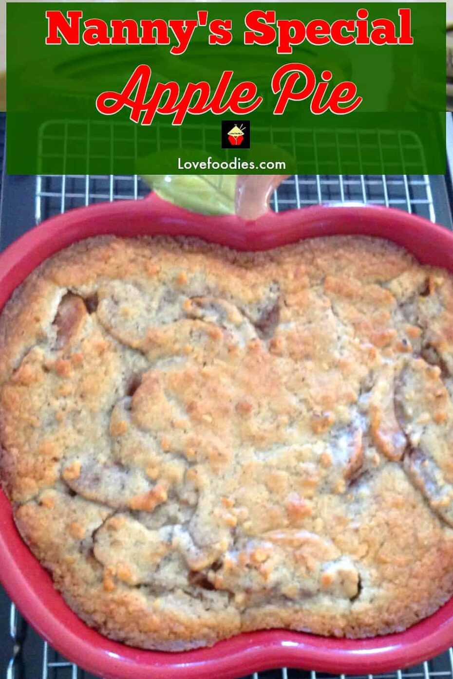Nannys Special Apple Pie This apple pie is an old family recipe and always very popular, especially for those who prefer a crustless pie!