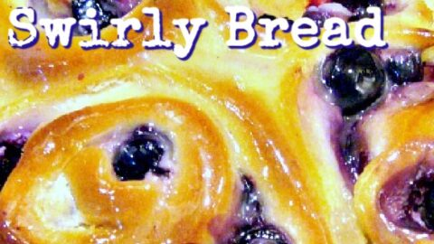 Blueberry Cream Cheese Swirly Bread, made from scratch, easy sweet bread recipe. Soft, sticky, creamy rolls, bursting with juicy blueberries. Perfect for the holiday season
