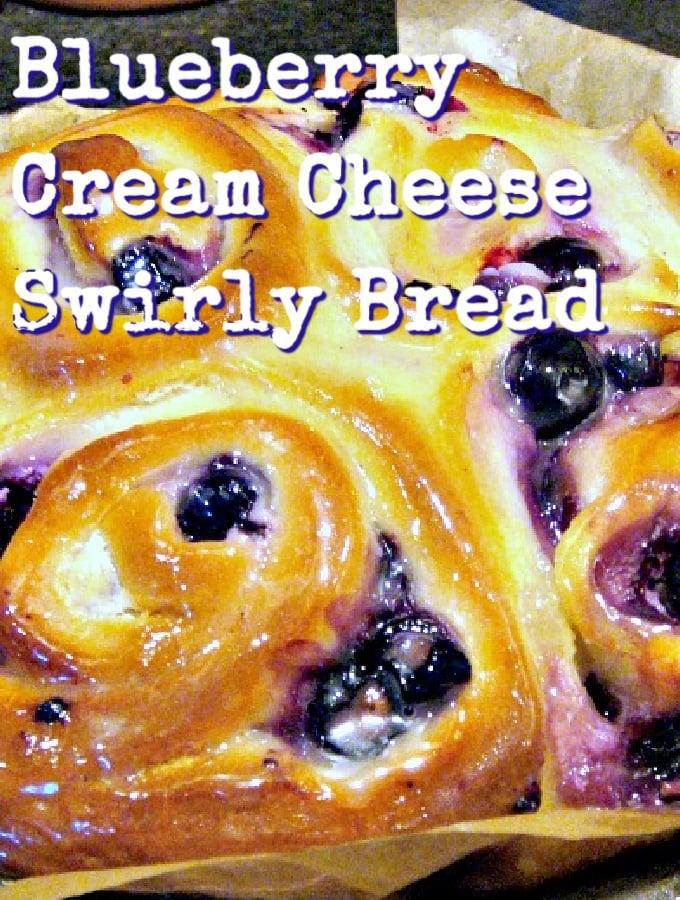 Blueberry Cream Cheese Swirly Bread Hero