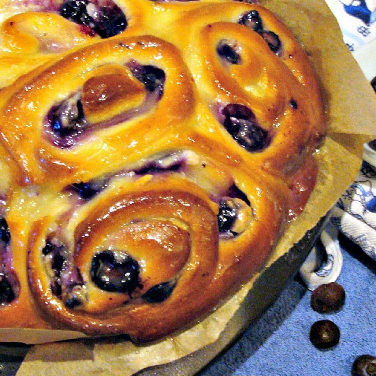 Blueberry Cream Cheese Swirly BreadF