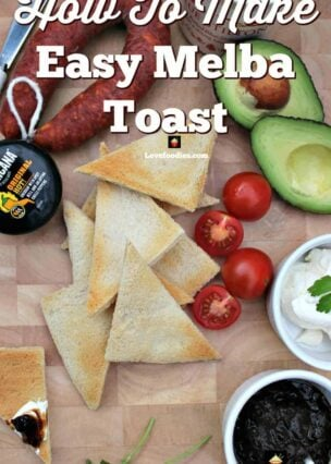Easy Melba Toast is great for appetizers, parties and makes a perfect homemade cracker, perfect for cheese, spreads, dips and cold cuts.