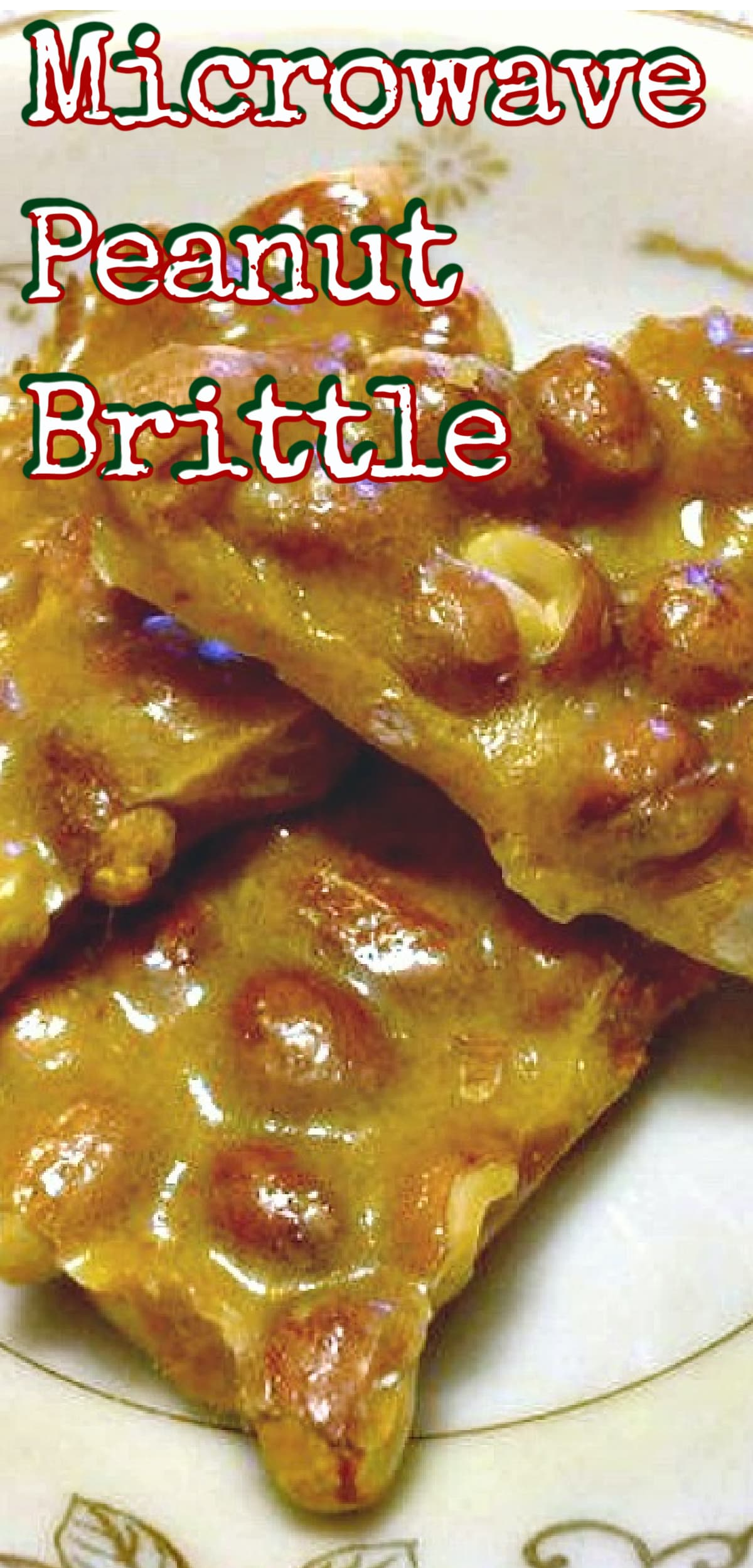 Microwave Peanut Brittle. A super easy and fuss free recipe. Perfect for the holidays and great for making ahead. Give as gifts or have all to yourself!
