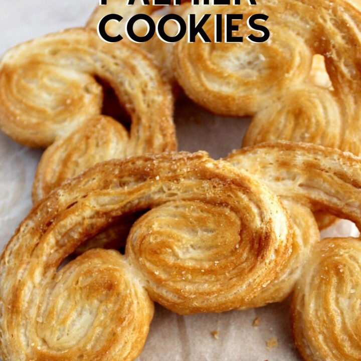 French Palmier Cookies or Elephant Ears are a delicious little cookie filled with almonds and perfect for the holidays! Quick and easy to make too!