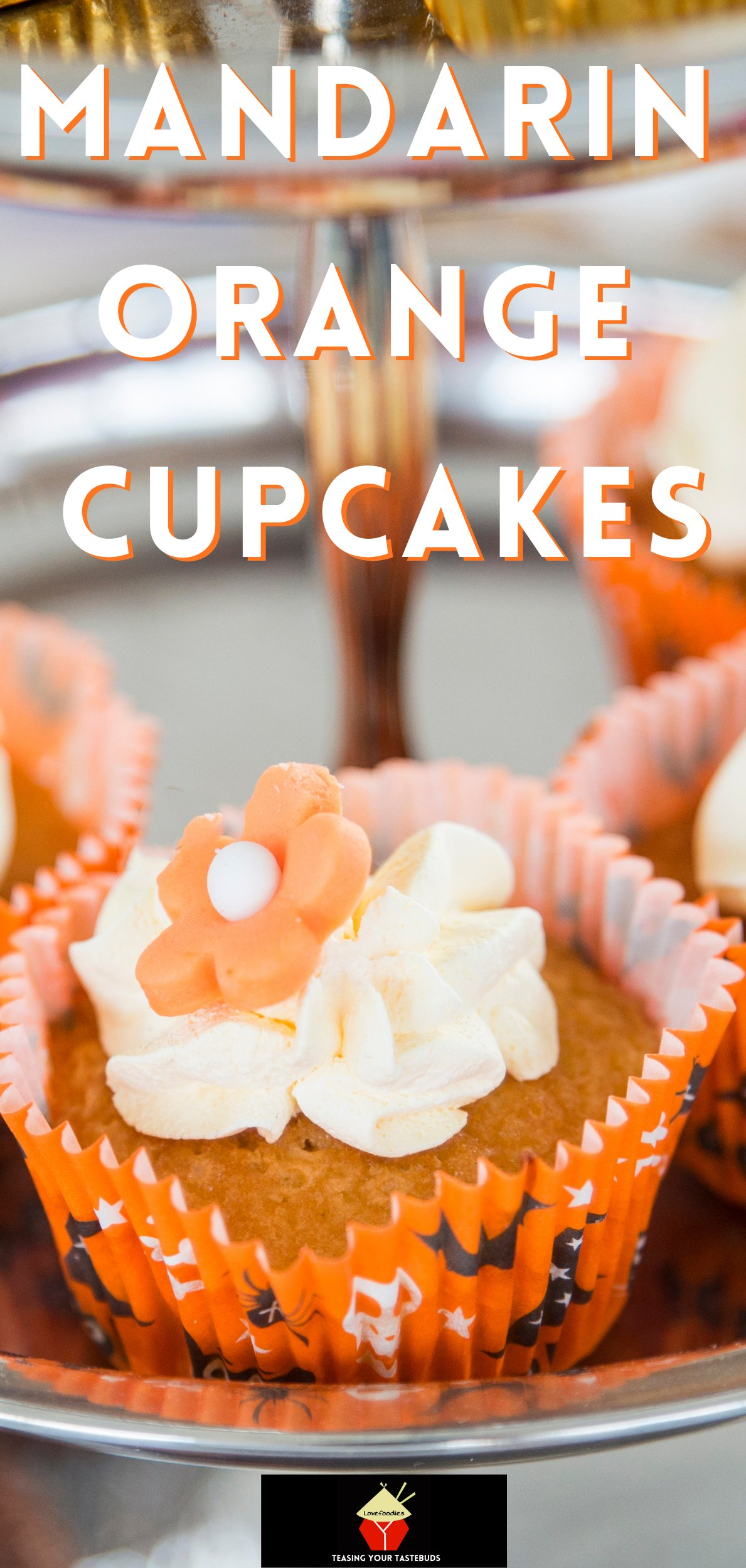 Mandarin Orange Cupcakes with Whipped Cream Topping, easy made from scratch recipe with a creamy frosting