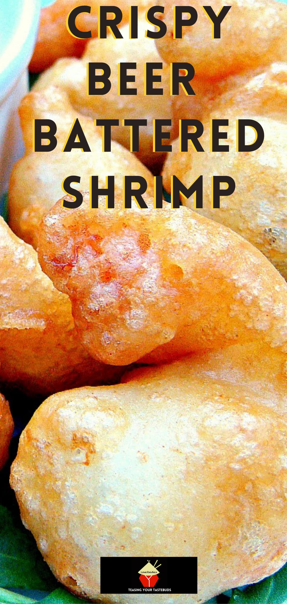 Crispy Beer Battered Shrimp. Light and crispy batter around delicious juicy shrimp, add your favorite dip and these are a perfect starter or party food.