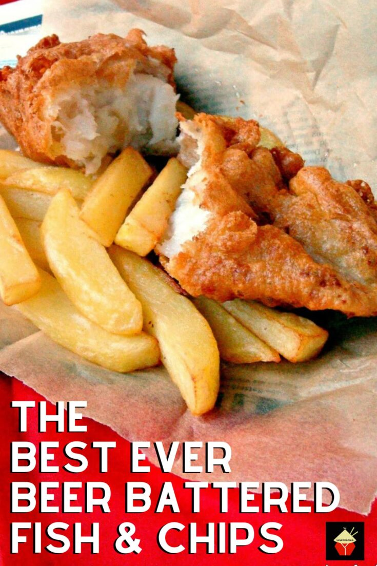 The BEST EVER Beer Battered Fish and ChipsH