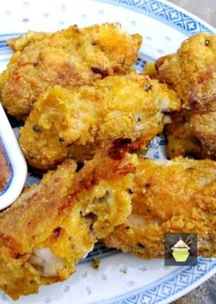 Crispy Baked Chicken Wings, coated with delicious spices for great flavor. Easy baked recipe, better than Southern Fried Chicken! You can use the recipe for wings, tenders, drumsticks