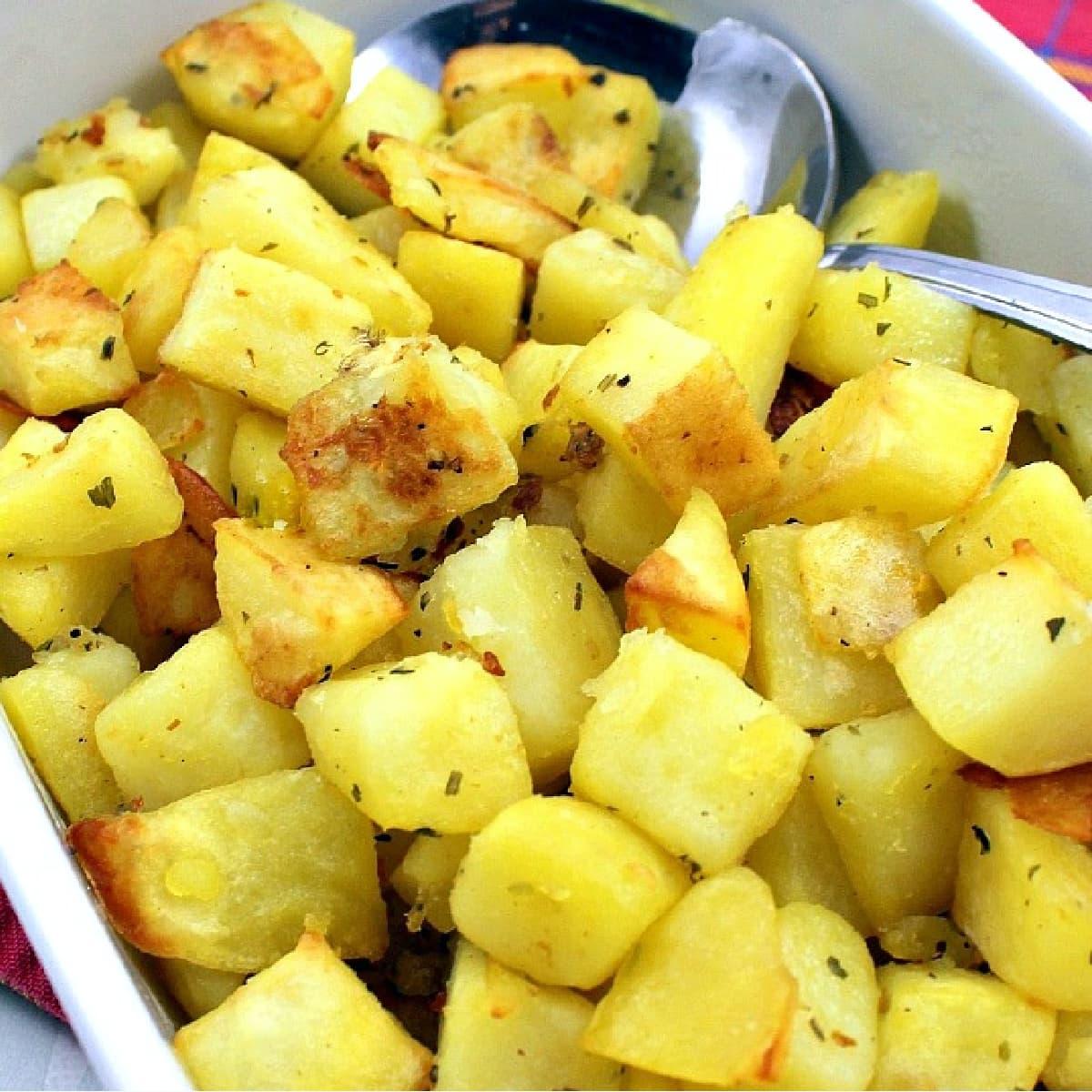 Easy Garlic Potatoes F