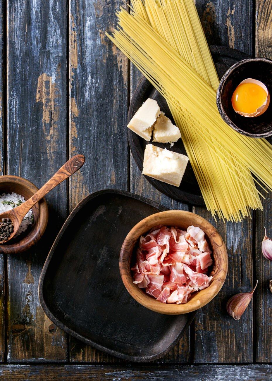 Classic Italian Spaghetti Carbonara, ingredients