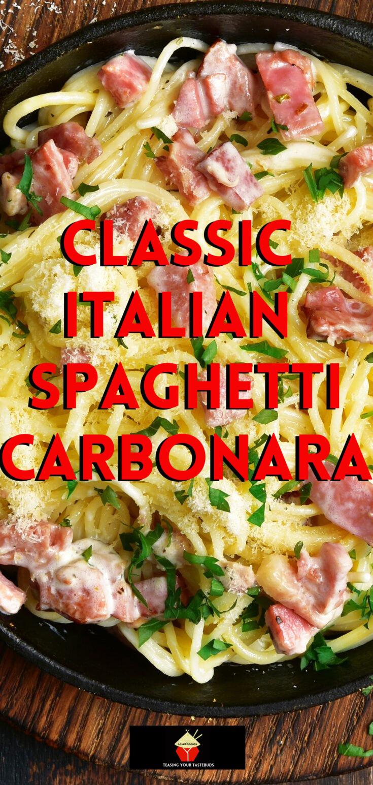 Classic Italian Spaghetti CarbonaraP2