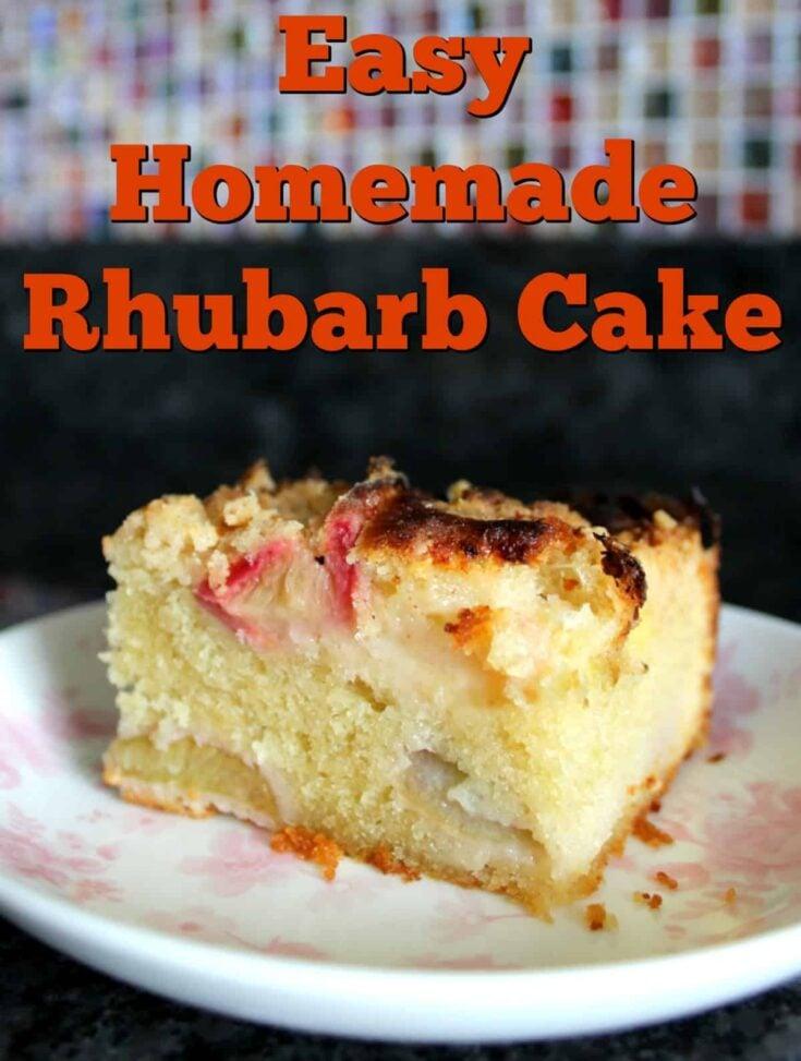 Easy Homemade Rhubarb Cake Hero1