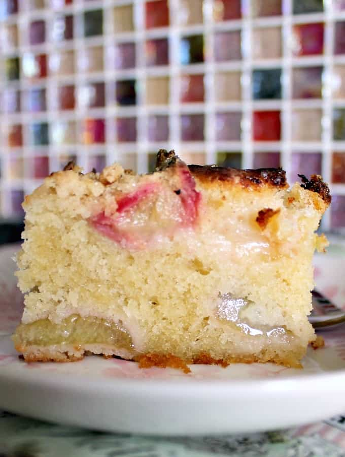 Easy Homemade Rhubarb Cake