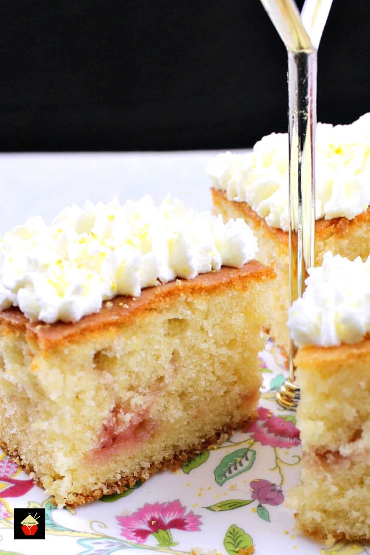 Lemon Drizzle Raspberry Ripple Cake. Easy recipe, soft, moist and great tasting cake, bursting with lemon and raspberry. A perfect sweet treat for afternoon tea or dessert.
