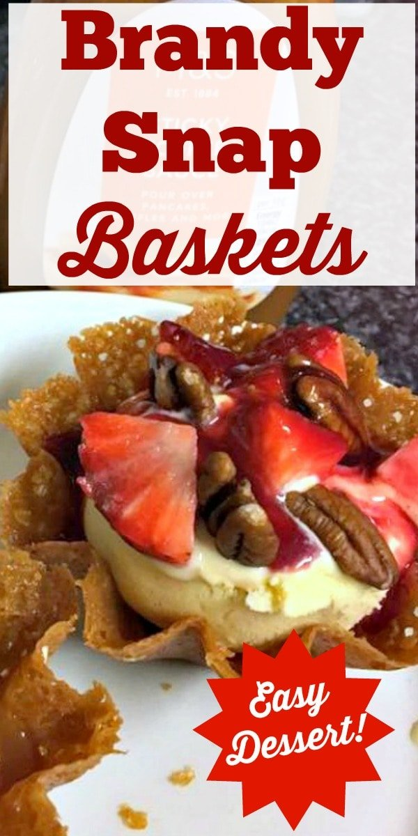 Brandy Snap Baskets - A wonderful cookie type treat, oddly enough, with no brandy! One is never enough so be sure to make plenty!