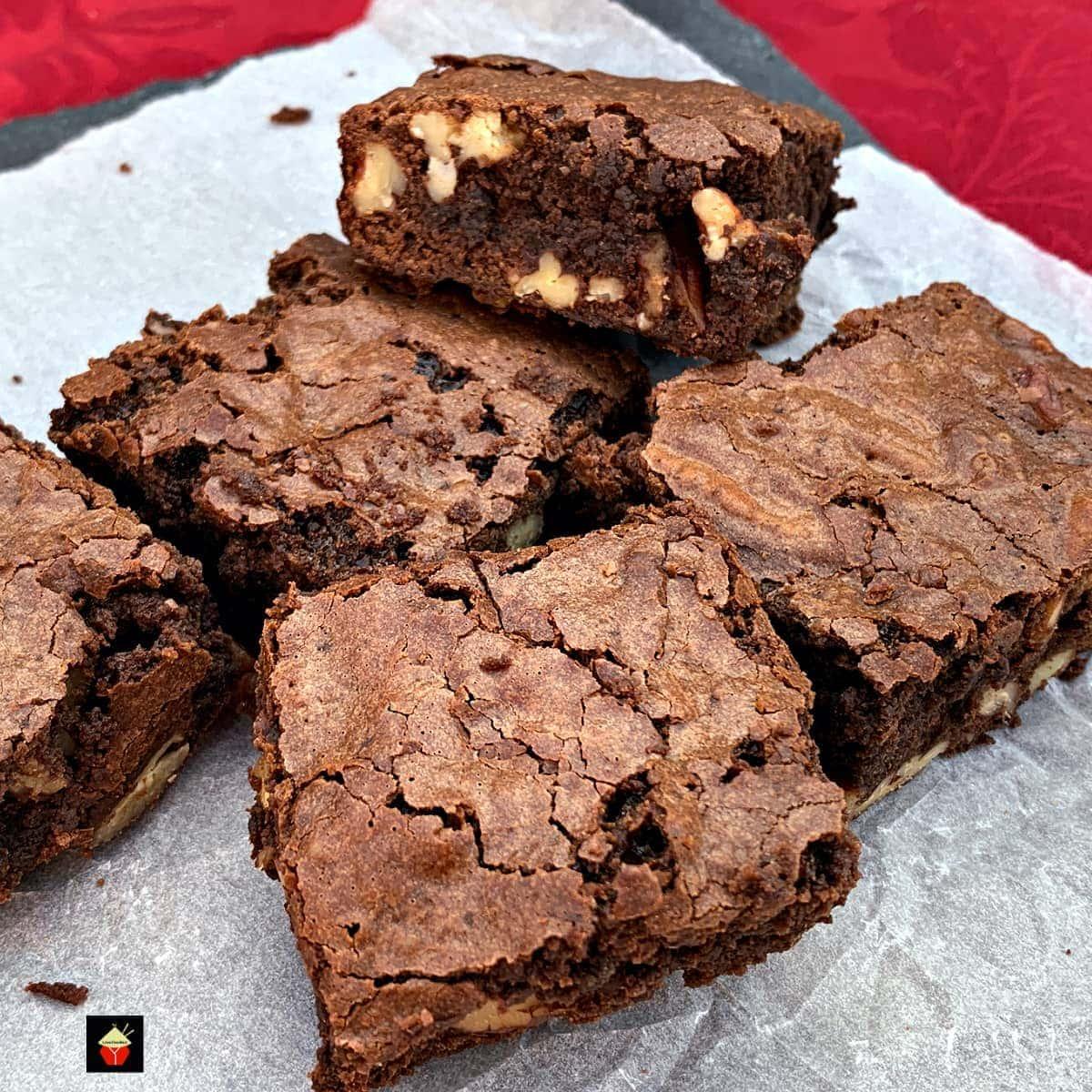 Triple Chocolate Pecan BrowniesF