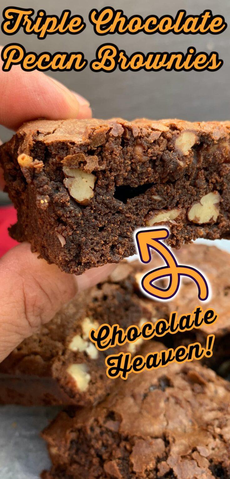Triple Chocolate Pecan BrowniesP1