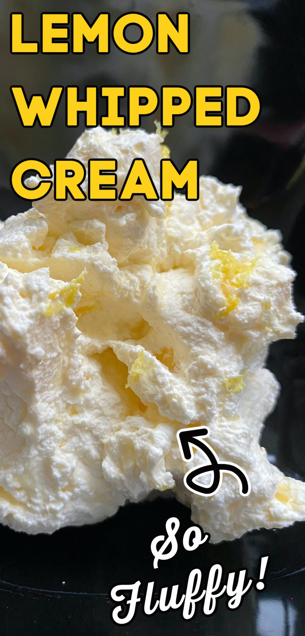 Lemon Whipped Cream, a very quick and easy recipe using fresh whipped cream to give you a sweet and tangy lemon flavour. Great with cakes or in a trifle