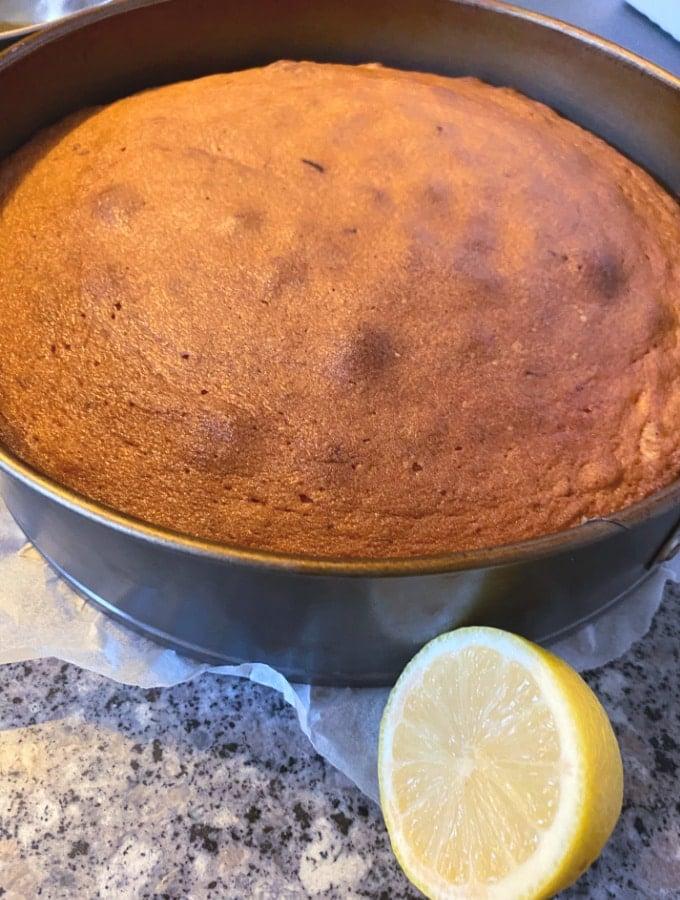 Sticky Lemon Cake Baked