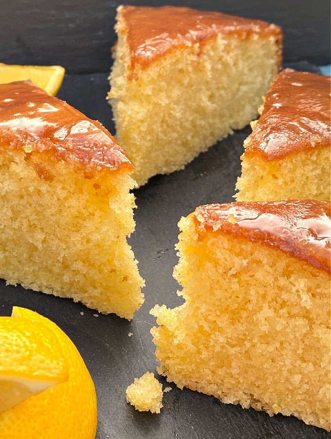 Easy Sticky Lemon Cake. An easy classic homemade cake recipe bursting with lemon. Soft, moist sponge with a sticky sweet glaze makes this a perfect cake for any occasion