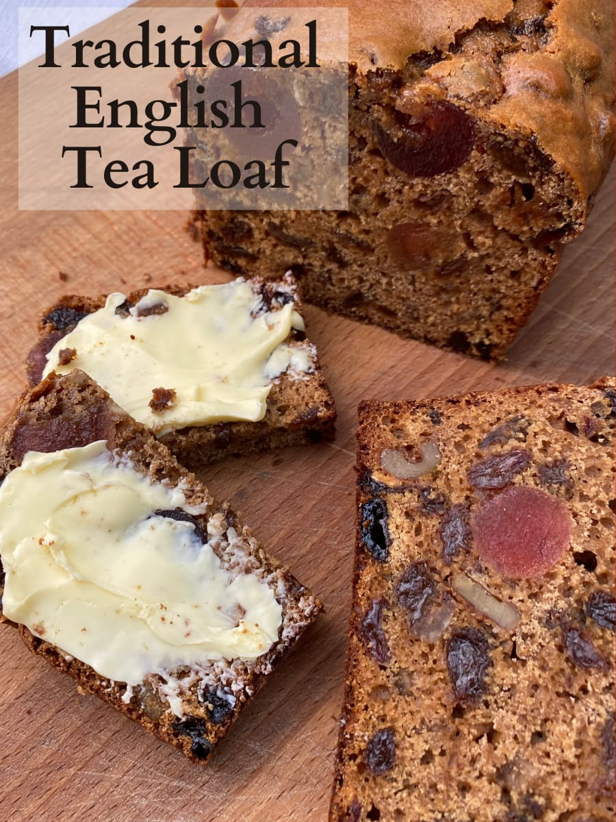 Traditional English Tea Loaf Delicious tea-soaked dried fruits fill this soft, moist, sweet bread. Traditionally served with a spread of butter alongside afternoon tea.