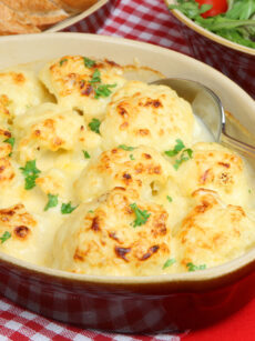 Cauliflower Cheese. Ideal if you need to make ahead. Simply put it in the oven when you're ready! This is great as a main meal or served as a side, with a nice roast dinner, or ham.