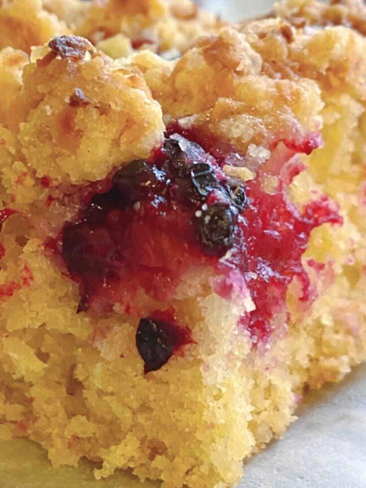 Easy Homemade Raspberry Crumb Bars A