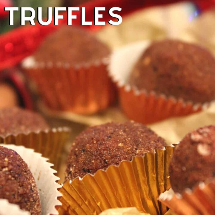 Cappuccino Chocolate Truffles. Creamy, rich chocolate and coffee-flavored homemade truffles are easy to make and perfect for gifts.