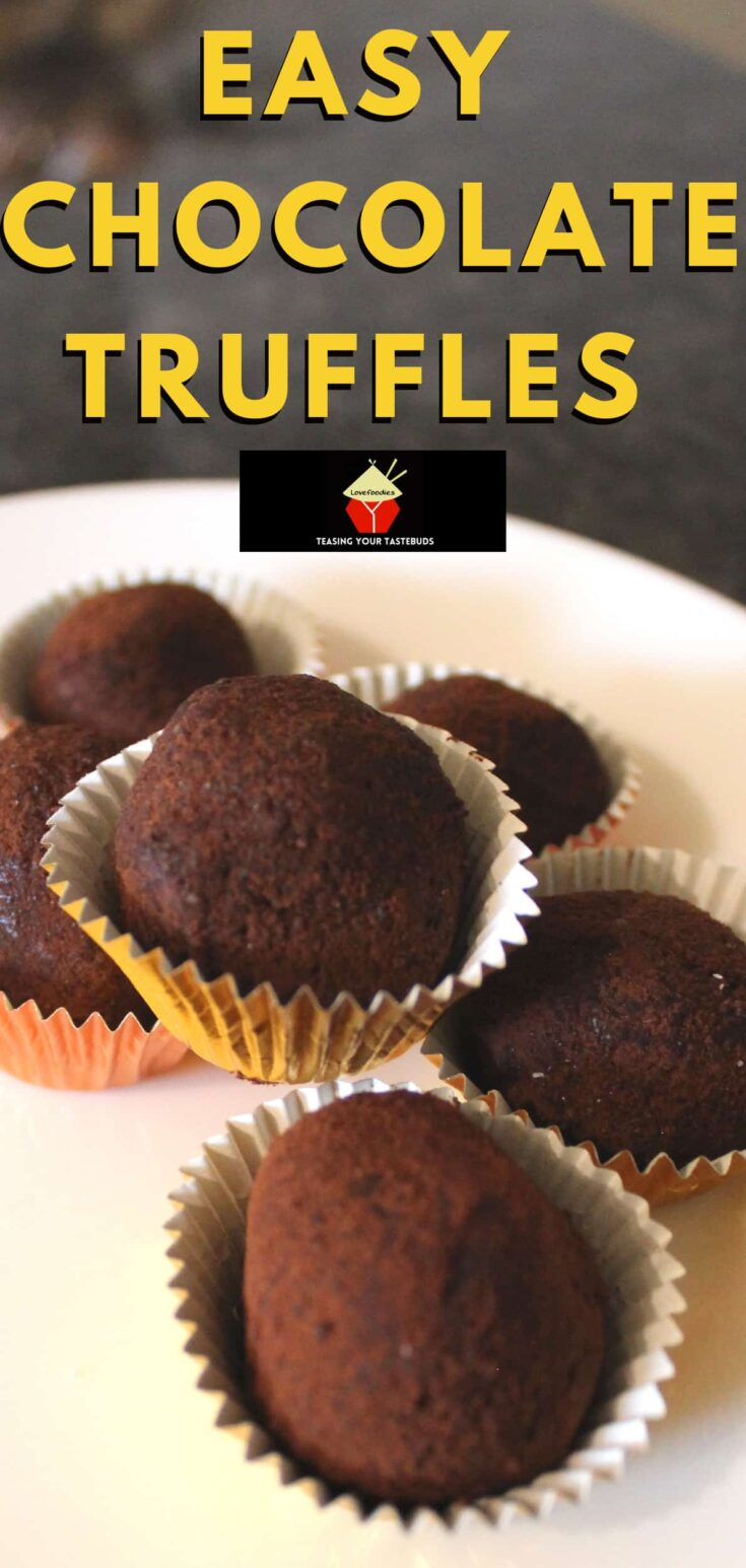 Easy Chocolate Truffles. Creamy rich homemade chocolate truffles are easy to make and perfect for gifts.P3