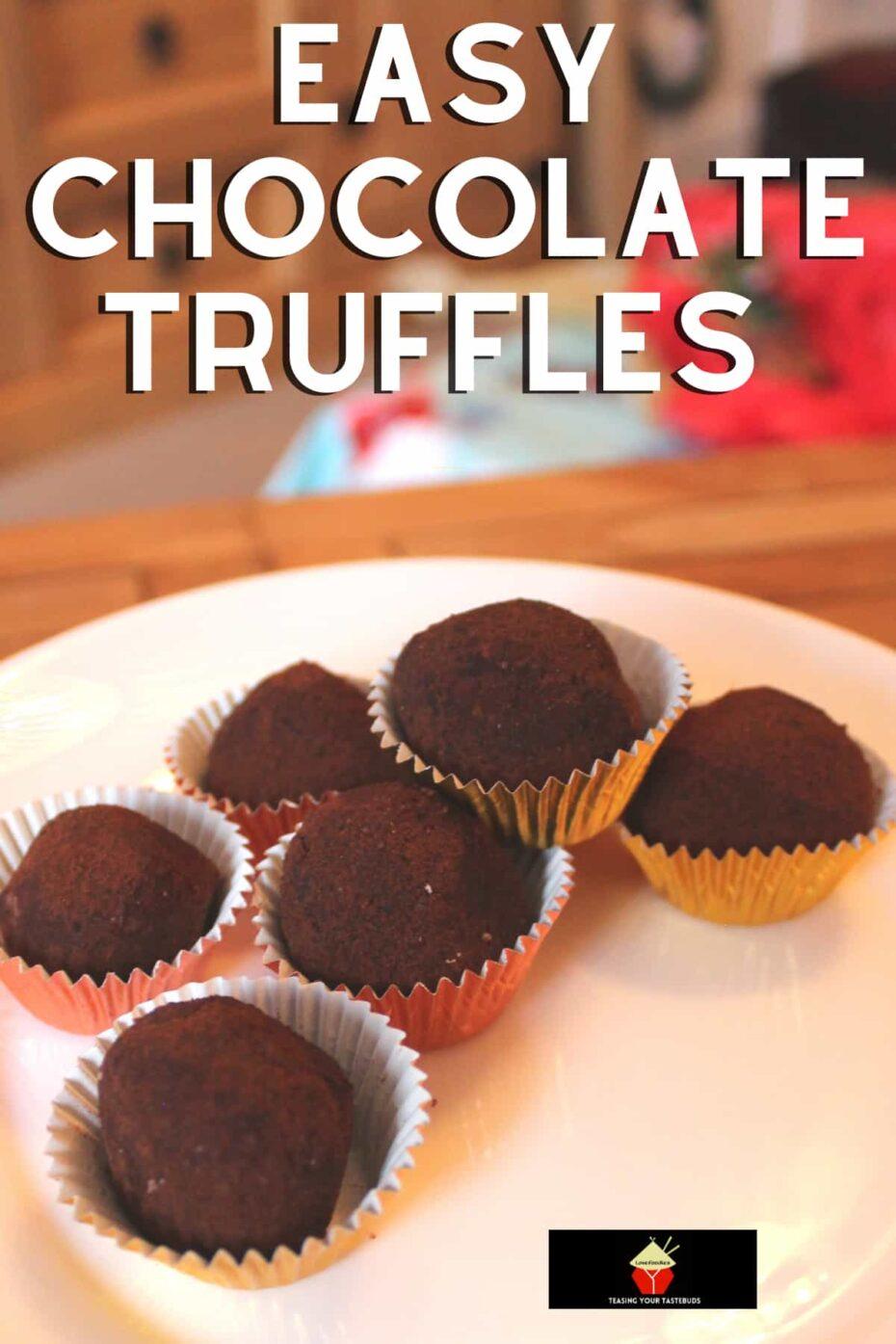 Easy Chocolate Truffles. Creamy, rich homemade chocolate truffles are easy to make and perfect for gifts.