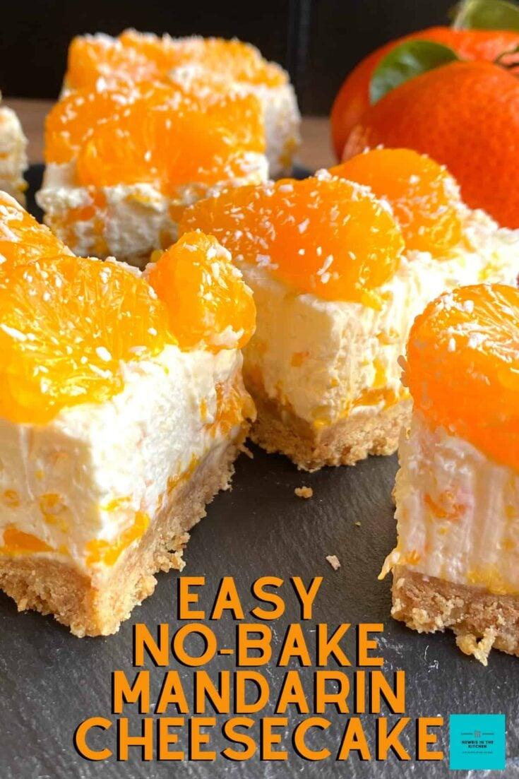 Easy No Bake Mandarin CheesecakeH