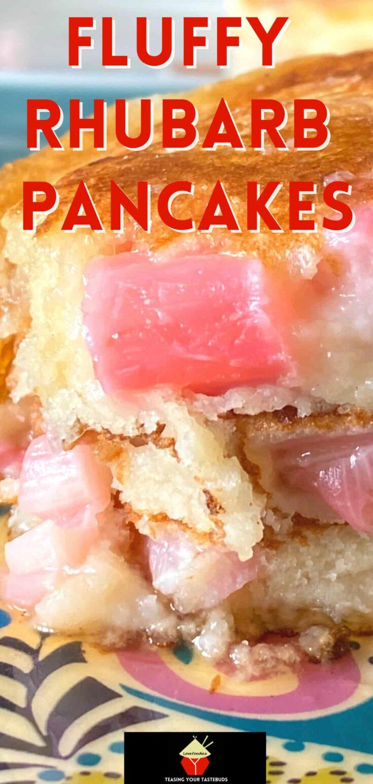 Fluffy Rhubarb PancakesP1
