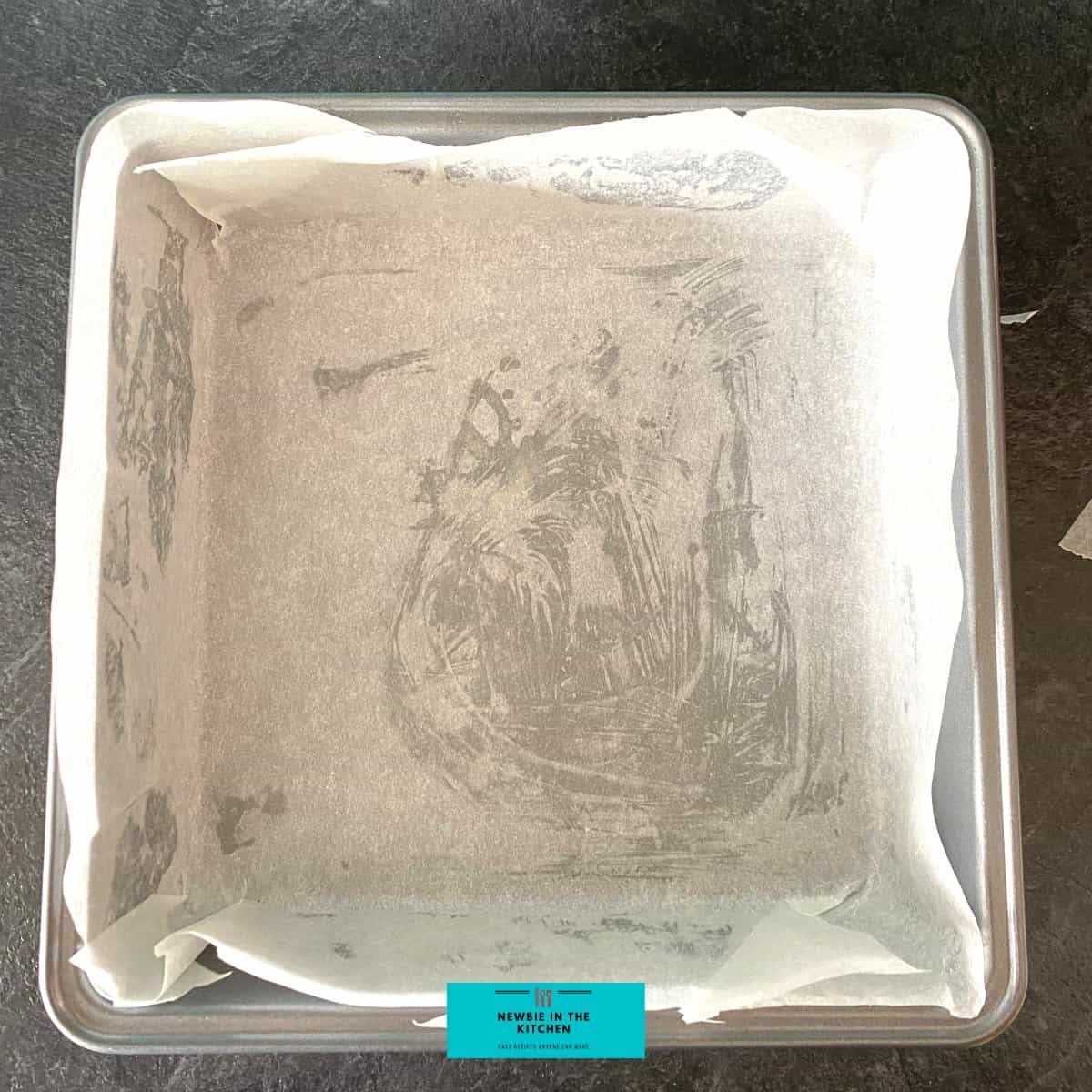 How to Line A Square Baking Pan With Parchment PaperF