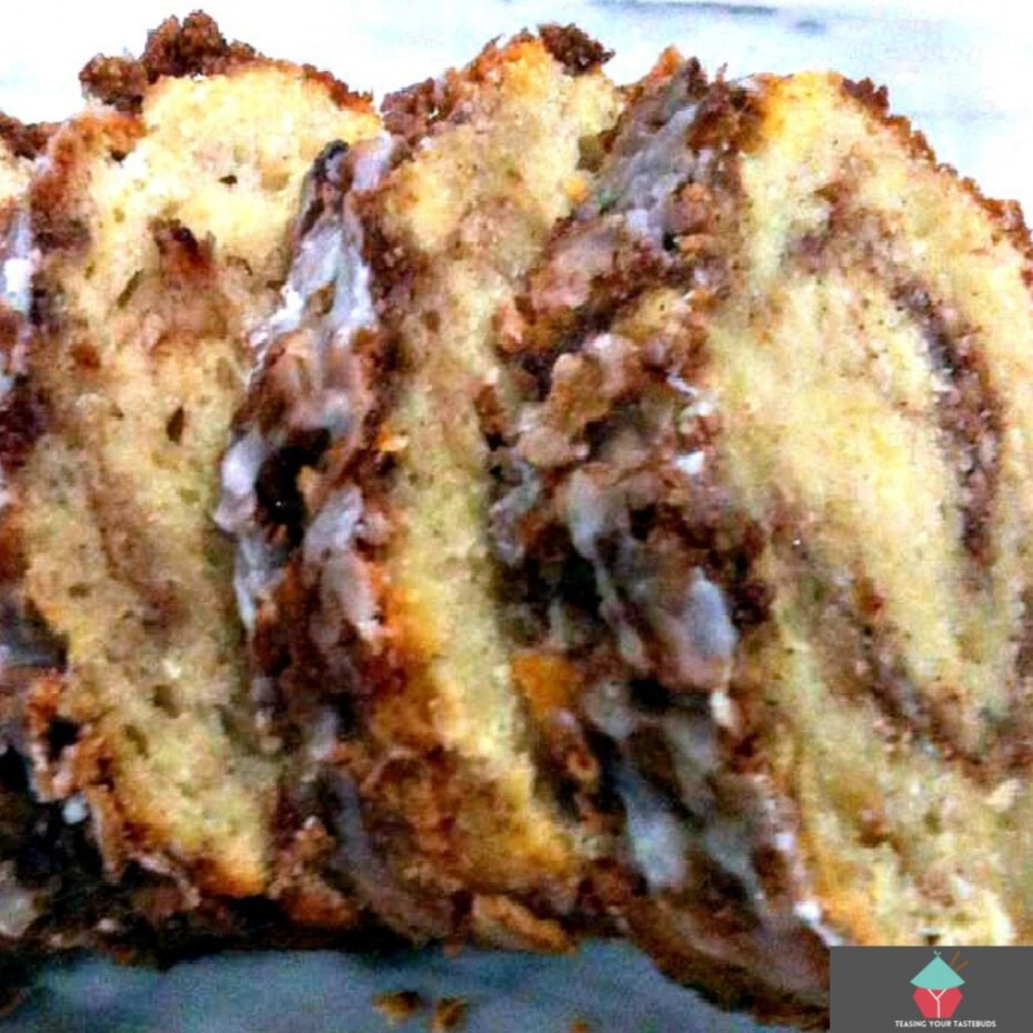 Easy Cinnamon Swirl Loaf. A moist, soft, and delicious tasting loaf cake, perfect with a morning coffee! This is a wonderful no yeast, quick bread recipe, full of flavor, soft and fluffy, and really easy to make too.