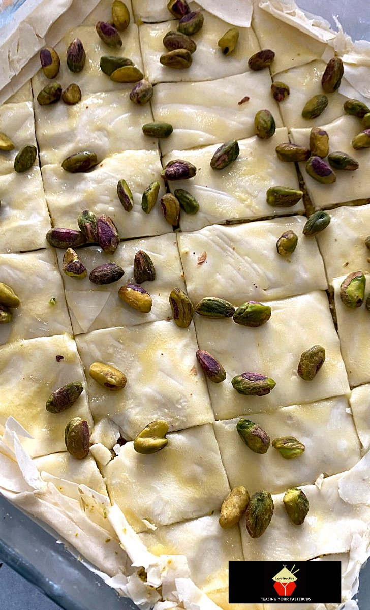 Easy Honey Baklava, final layer