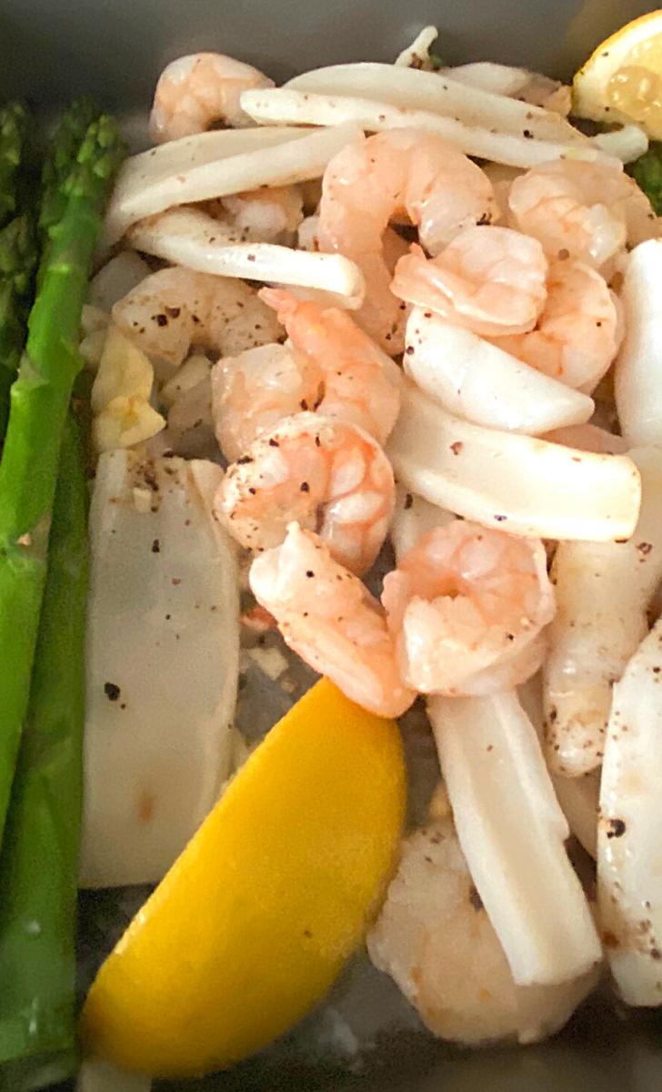 Easy Oven Baked Garlic Shrimp, Baked