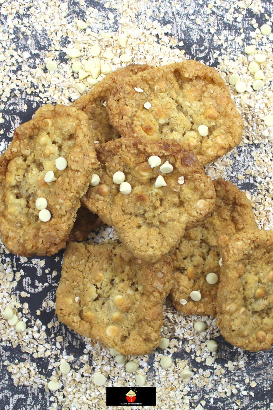 Chewy White Chocolate Oatmeal Cookies. Soft and Chewy on the inside and crispy on the outside, these are the BEST EVER oatmeal cookies, loaded with white chocolate. A simple classic cookie recipe