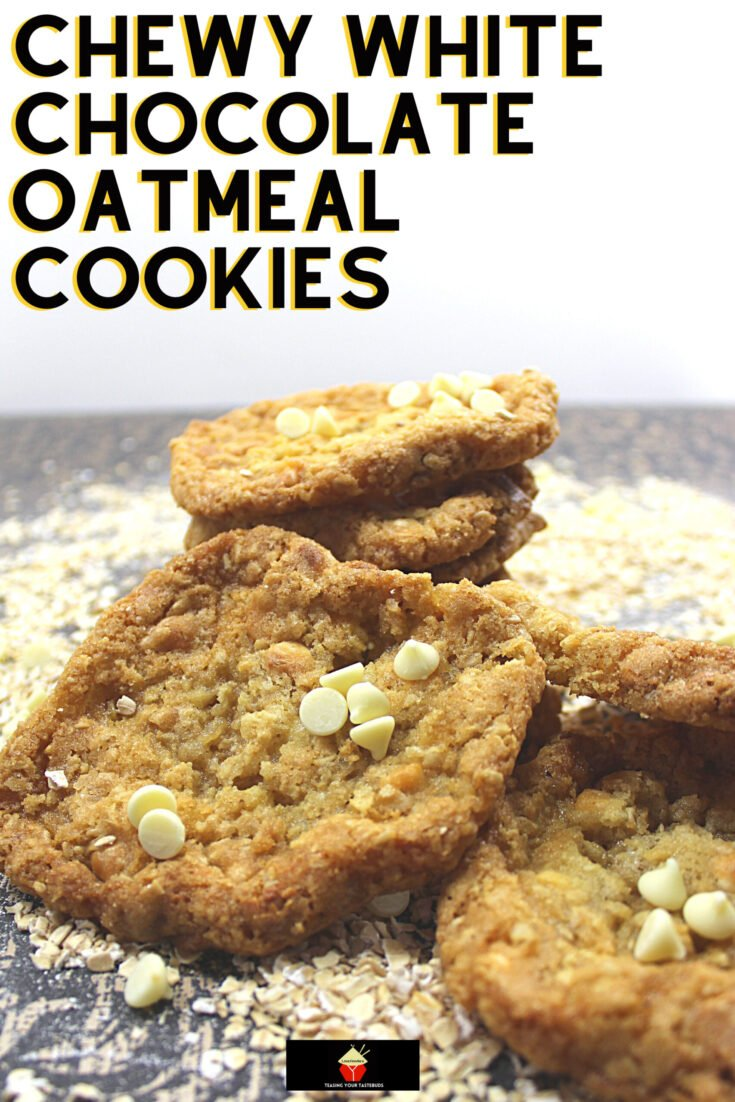 Chewy White Chocolate Oatmeal CookiesH scaled