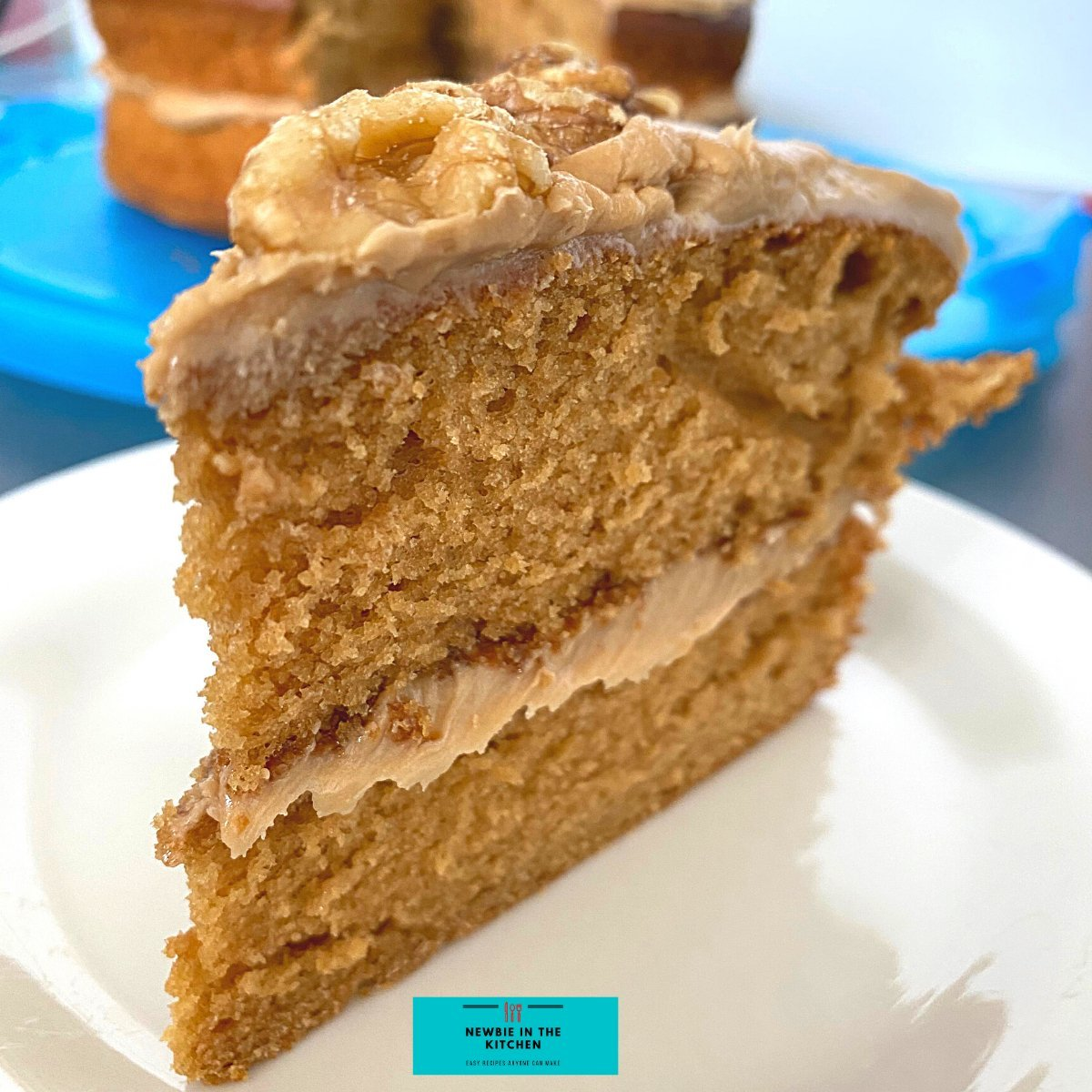 Easy Coffee Walnut CakeF