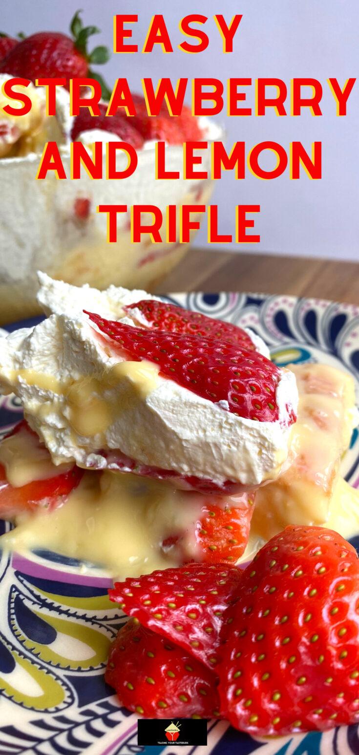 Easy Strawberry and Lemon TrifleP2