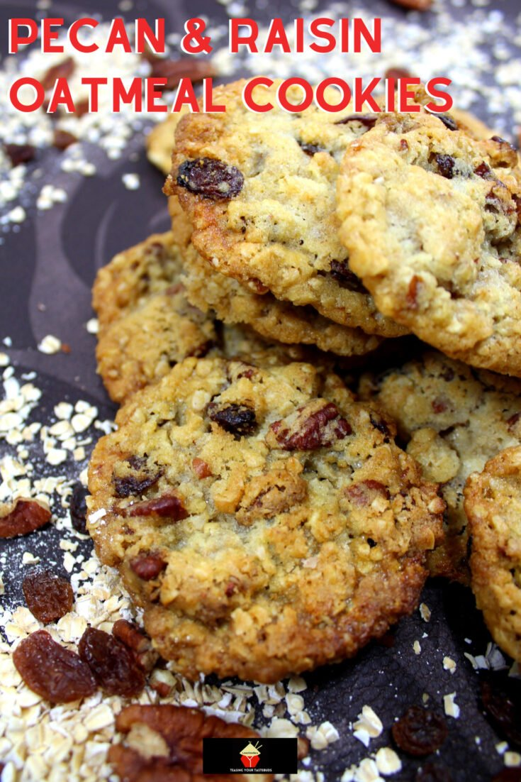 Pecan and Raisin Oatmeal CookiesH scaled