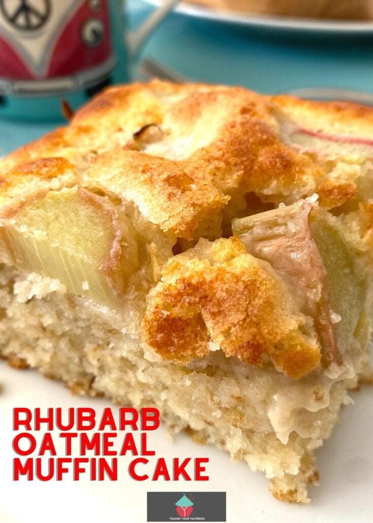 Rhubarb Oatmeal Muffin CakeH