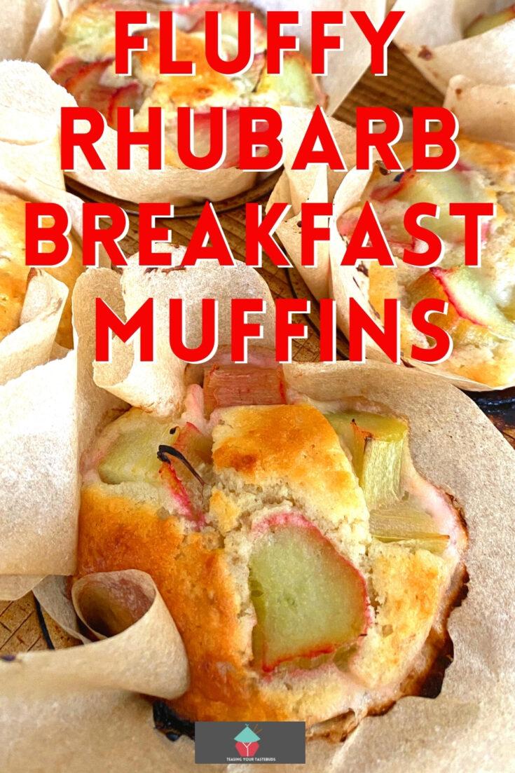 Fluffy Rhubarb Breakfast MuffinsP2
