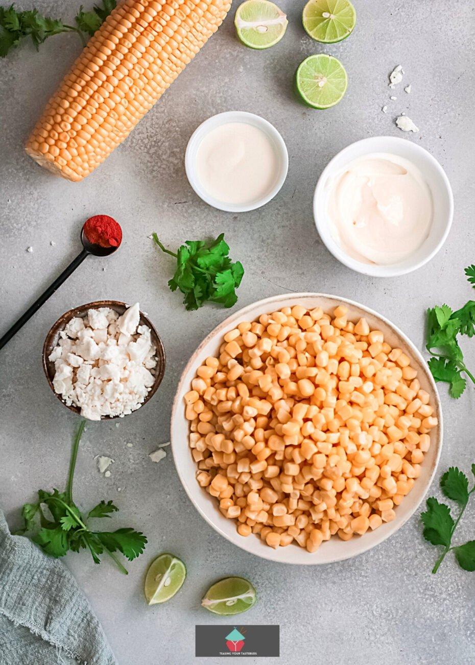 Easy Mexican Street Corn Dip, ingredients