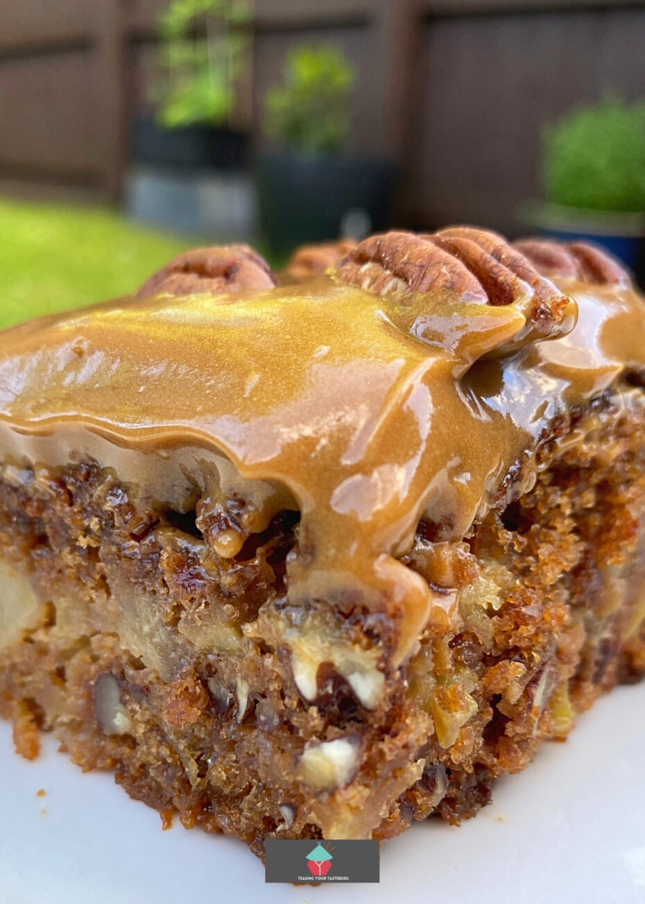Old Fashioned Date, Apple, and Walnut Cake. This old-fashioned date, apple, and walnut cake is easy to make, moist, and loaded with apple and dates keeping it sweet and soft. The walnuts add a great texture and crunch. Salted caramel frosting adds a perfect finish to this delicious cake.