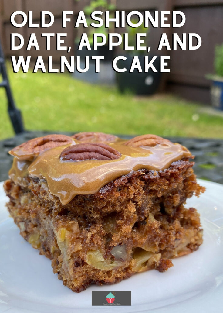 Old Fashioned Date Apple and Walnut CakeH