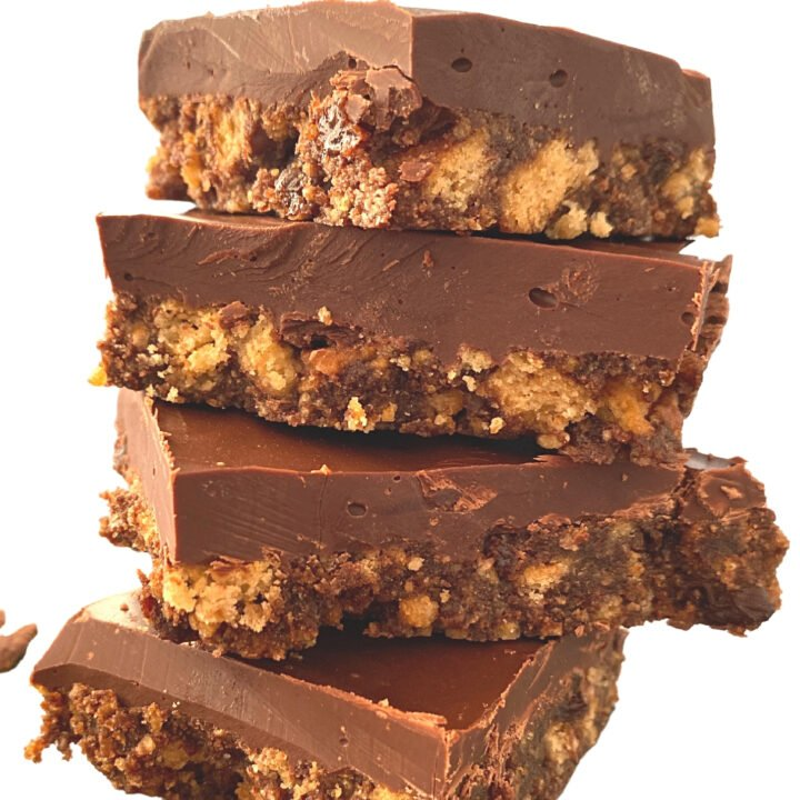 Easy English Tiffin is a delicious no-bake British colonial recipe, made of chocolate, crushed cookies, syrup, and raisins, often served at English afternoon tea.